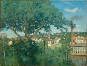 """J. Alden Weir's """"The Factory Village"""""""