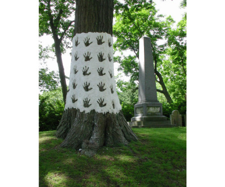 Ritual Trees, paper pulp