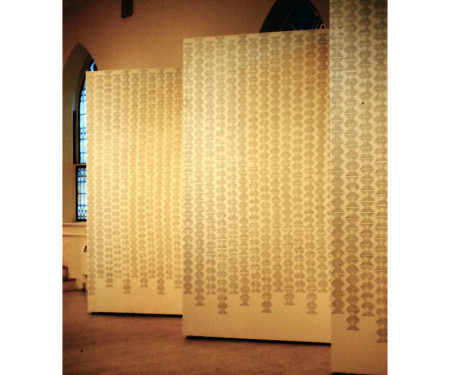Endless Column, rubber-stamp pattern