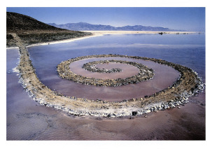 "the always changing ""Spiral Jetty"" by Robert Smithson"