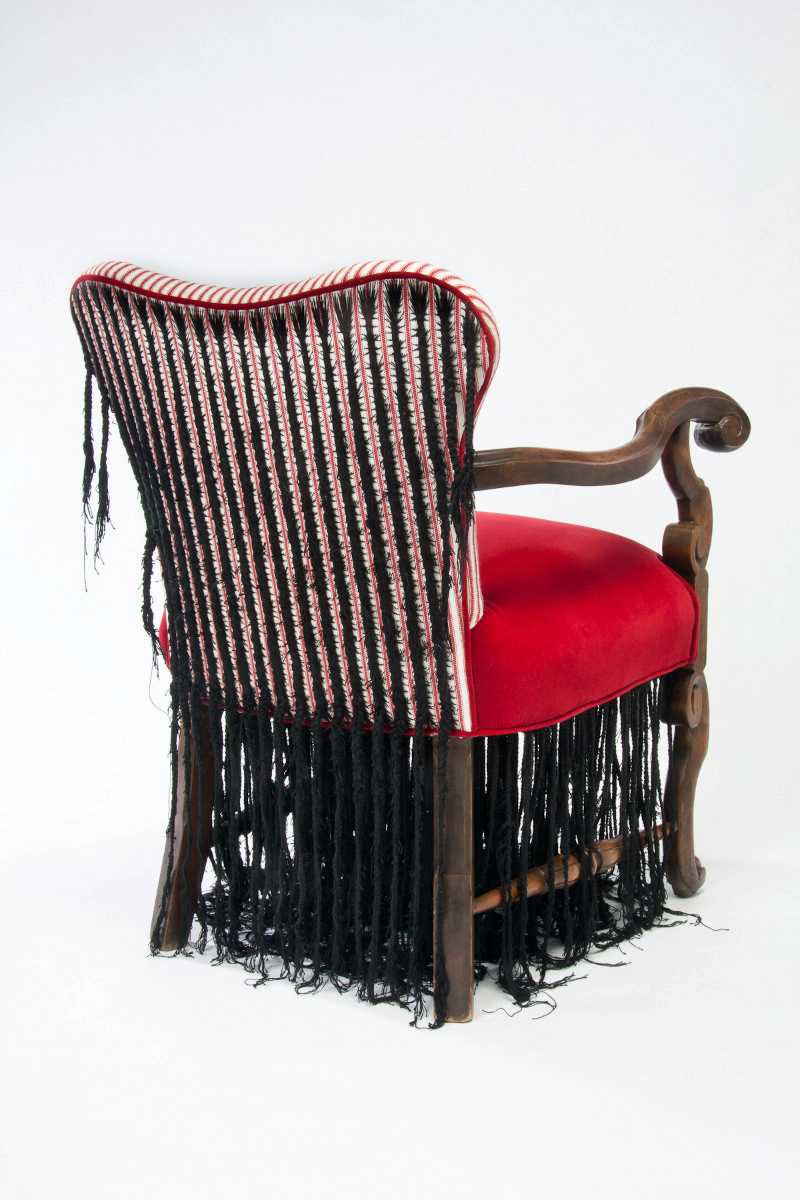 "Sonya Clark's ""Corn Row Chair"""