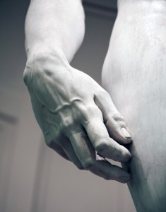 "Michelangelo's ""David"" (hand detail)"
