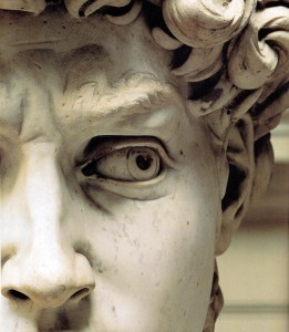 "Michelangelo's ""David"" (eyes detail)"