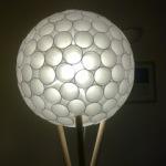 Adam Udy's plastic cup lamp