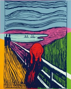 """""""The Scream (After Munch),"""" Andy Warhol screenprint"""