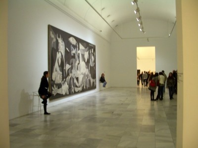 Guernica on display in Madrid
