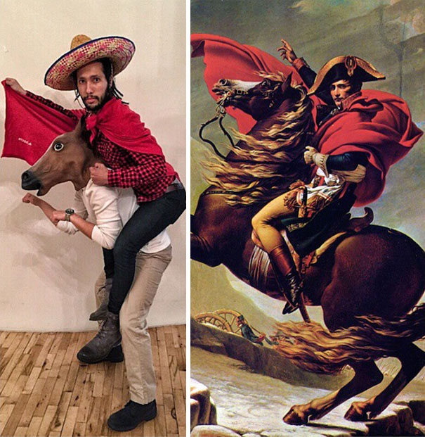 """""""Napoleon Crossing the Alps"""" by Jacques-Louis David, 1801"""