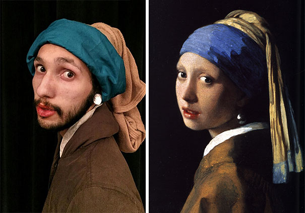 """""""The Girl with the Pearl Earring"""" by Johannes Vermeer, 1665"""