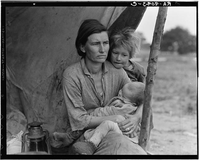 Migrant Mother series #3 by Dorothea Lange