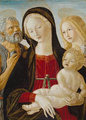 Madonna & Child w: St. Jerome & M. Magdalene Neroccio de' Landi