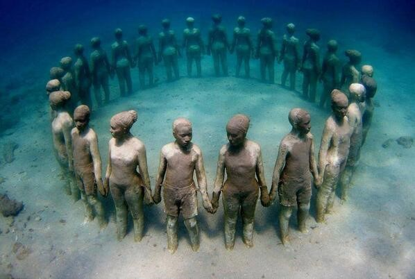 Viccisitudes by underwater installation artist Jason DeCaires Taylor