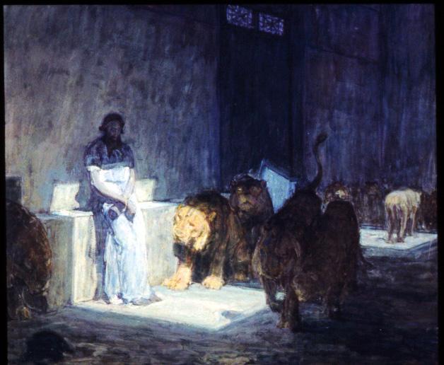 Henry Ossawa Tanner's Daniel in the Lions Den (1907-1918)