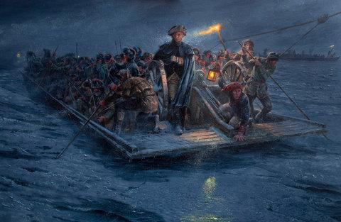 Mort Kunstler's Washington Crossing