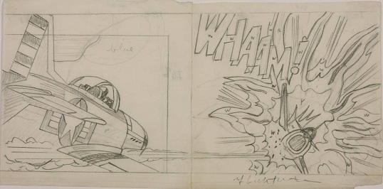 Drawing for 'Whaam!' 1963 by Roy Lichtenstein 1923-1997