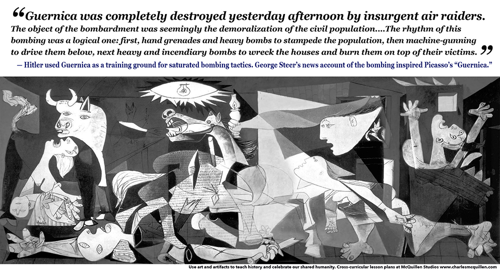George Steer's news account of the Guernica bombing inspired Picasso's Guernica