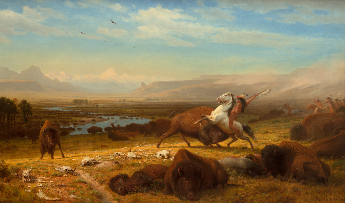 Albert Bierstadt (American, 1830-1902 ), The Last of the Buffalo, 1888, Corcoran Collection