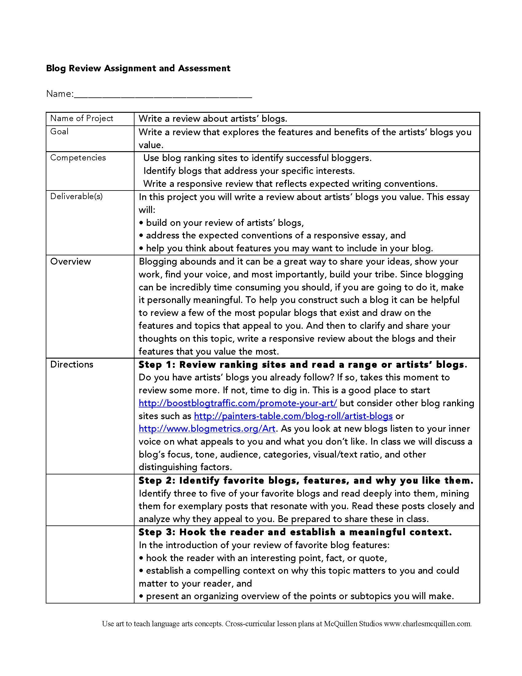 Favorite Blogs Assignment 1