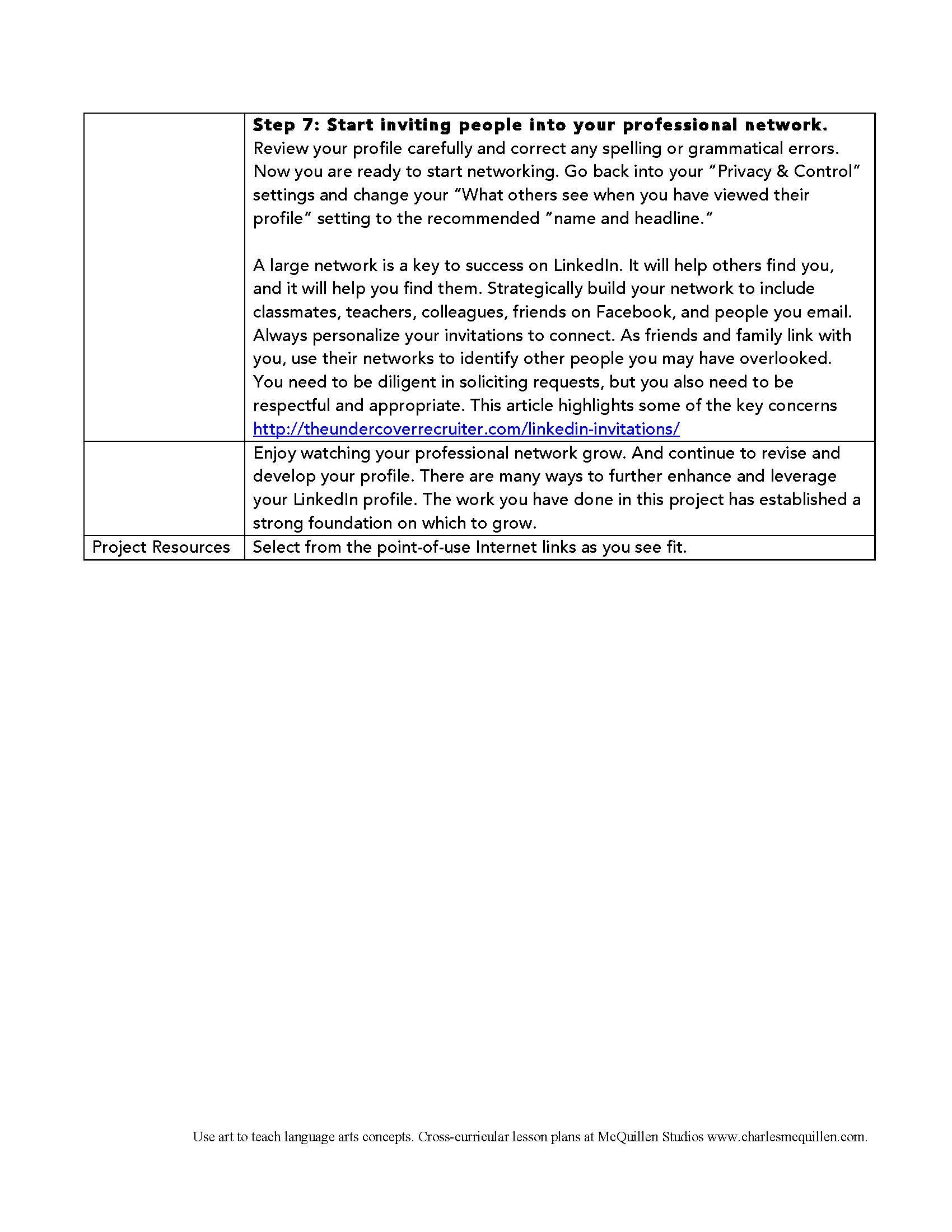 LinkedIn Profile Assignement 3